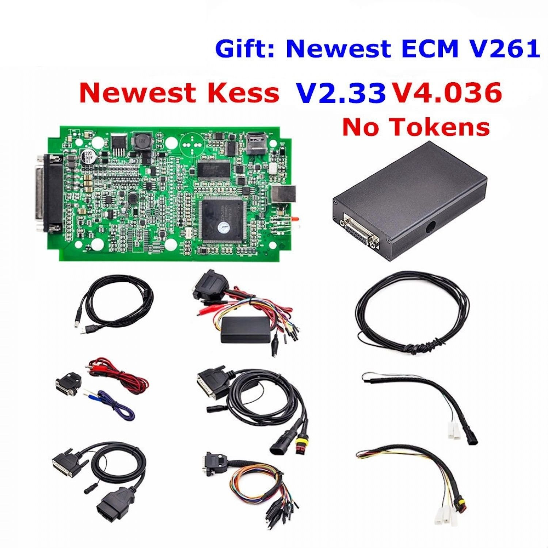 KESS V2 V2.33 Firmware V4.036 No Tokens Limited ECU Chip Tuning Multi-Language