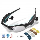 Wireless Bluetooth Cycling Glasses Polarized Outdoor Sport Driving Sunglasses