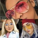 Aviator Sunglasses Oversized Clear Ocean Lens Gradient Glasses Square Retro Xxl
