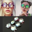 Kaleidoscope Sunglasses Catwalk Show Glasses Unisex Artificial Diamond Lens Punk