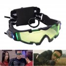 Adjustable LED Night Vision With Flip-Out Lights Eye Lens Glasses Green Goggles