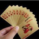 Golden Playing Cards Deck Foil Poker Set Magic 24K Gold Plastic Game Waterproof