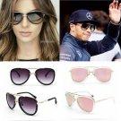 Big Frame Pilot Sunglasses Retro Large Mirror Eyewear Metal Hot Women Man 2017