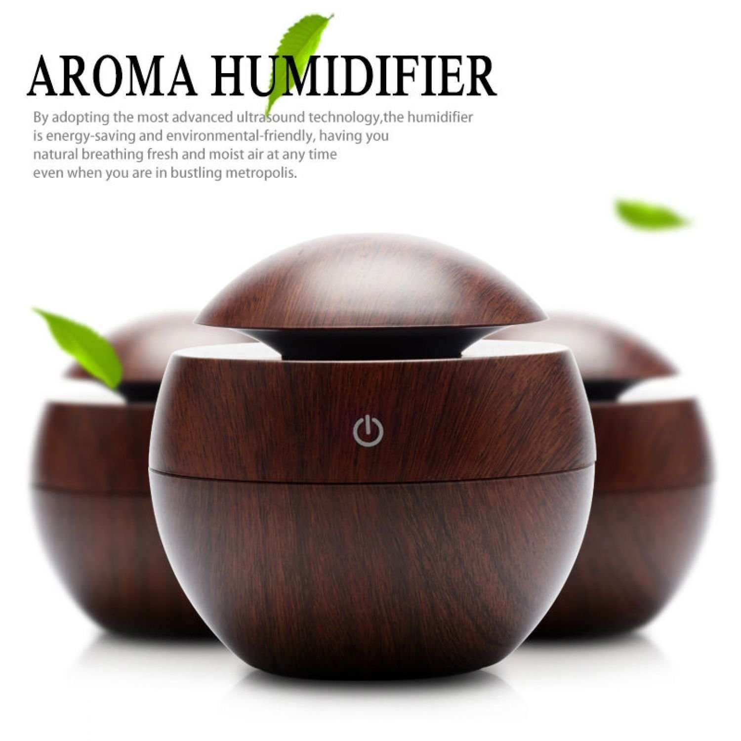 Mini Wooden Aromatherapy Humidifier USB Aroma Diffuser Portable Air Purifier ABS