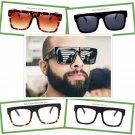 Vintage Sunglasses Rivet Square Frame Retro Luxury Men Women Eyewear Glasses Big
