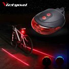 Light Back Laser Bicycle Red Led Bike Tail Rear 2 Safety Cycling Warning Lights