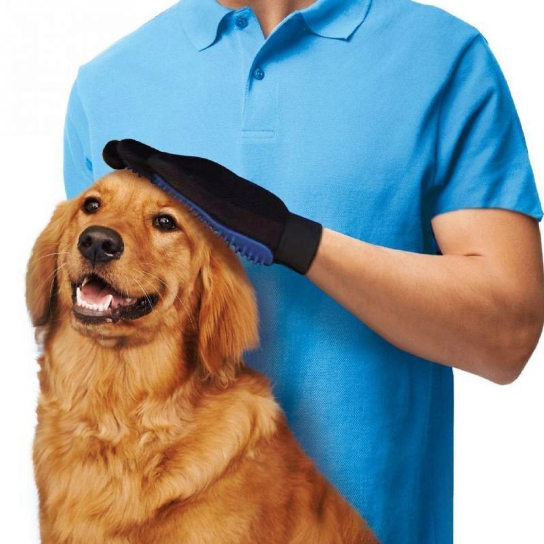 True Touch Deshedding Magic Glove Pet Dog Cat Efficient Massage Grooming Groomer
