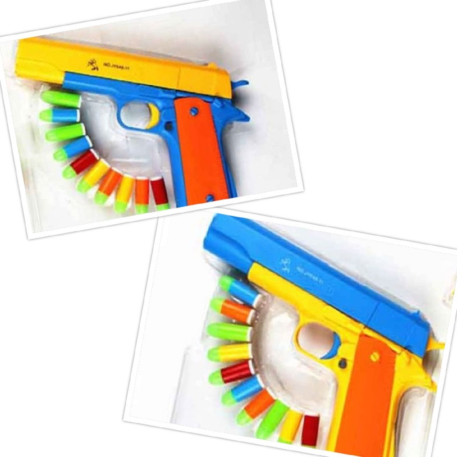 Pistol Classic M1911 Kids Nerf Toy Gun Toy Colorful Darts With Soft Bullets