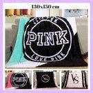 Pink VS Secret Real Blanket Manta Fleece Sofa Bed Plane Travel Plaids Girls Car