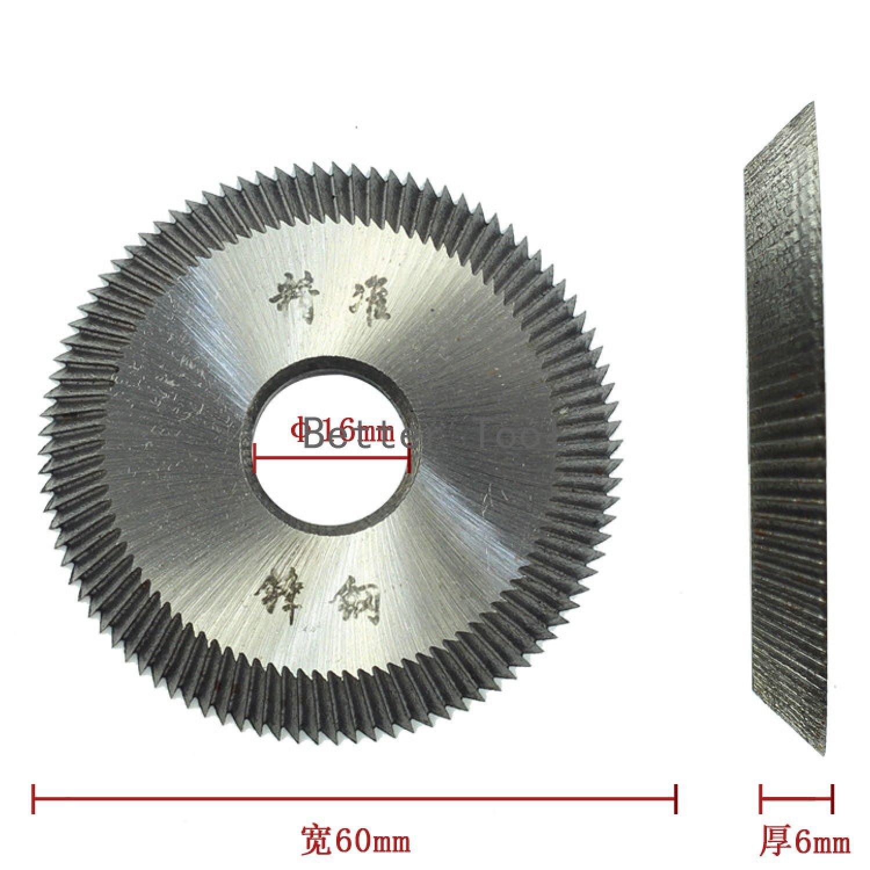 Blade Cutting 16x60x6mm Key For all  Horizontal Machine Disk Cutter Locksmith