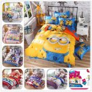 3d Bedding Set Cartoon Minions Mickey Mouse Hello Kitty Printed For Kids Cotton