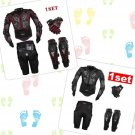 Motorcycle Body Jacket Suit Moto Racing Armor Protective Gears Short Pants Set