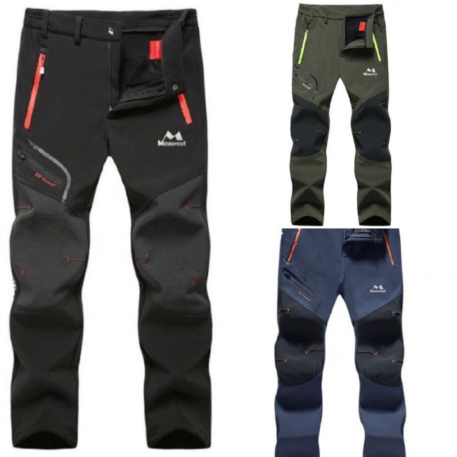 Fishing Waterproof Camping Man Women Winter Trekking Fleece Outdoor Hiking Pants