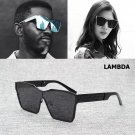 Square Shape Style LAMBDA Sunglasses Fashion Men Women Cool Metal UV400 2017 New