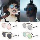 Steampunk Round Metal Sunglasses Vintage Lens Women Men Retro Designer Steam New