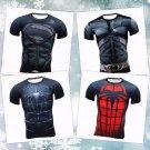 Fitness Compression Long Sleeve Shirts Men Bodybuilding Superman Marvel Rash New