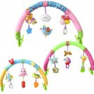 Baby Stroller Car Clip Hanging Seat Rattle Toys Ocean Forest Sky Plush Animal