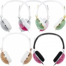 Luxury Shiny Headphones Anti-noise Crystal Artificial Earphones Music Stereo New