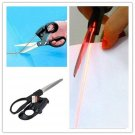 Sewing Laser Guided Scissors For Home Paper Crafts Wrapping Cuts Straight Fast