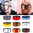 Very Big Lens Oversize Shield Sunglasses Windproof Visor Flat Eyeglasses Hood