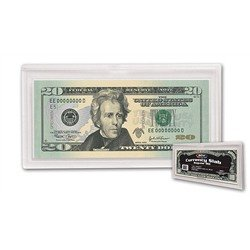 Crystal Clear Hard Plastic Modern Currency Holder (Qty = 5 Slabs)