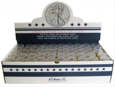 American Silver Eagle storage tubes (Qty = 10 Tubes)