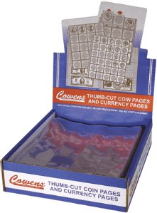 Cowens 30 Pocket 1 ½ x 1 ½ Coin Flip Pages (Qty = 25 Pages)