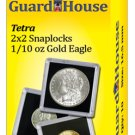 "2""x2"" One Tenth Ounce Gold Eagle Clear Snap Display Slabs (QTY = 10 Slabs)"