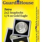 "2""x2"" 1/4 Oz Ounce Gold Eagle Clear Snap Display Slabs (QTY = 10 Slabs)"