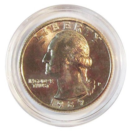 Coin Capsules for Quarters (50 per box) + Storage Box