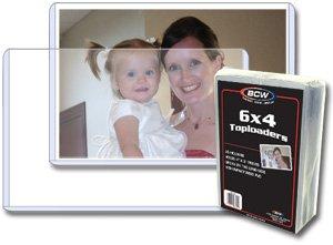 """6"""" x 4"""" Postcard / Photo Toploaders **6"""" side open**"""