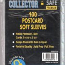 Collector Safe Post Card Soft Sleeve (Qty = 5 Packs on 100 sleeves)