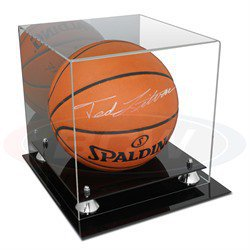 Deluxe Acrylic Basketball Display - With Mirror