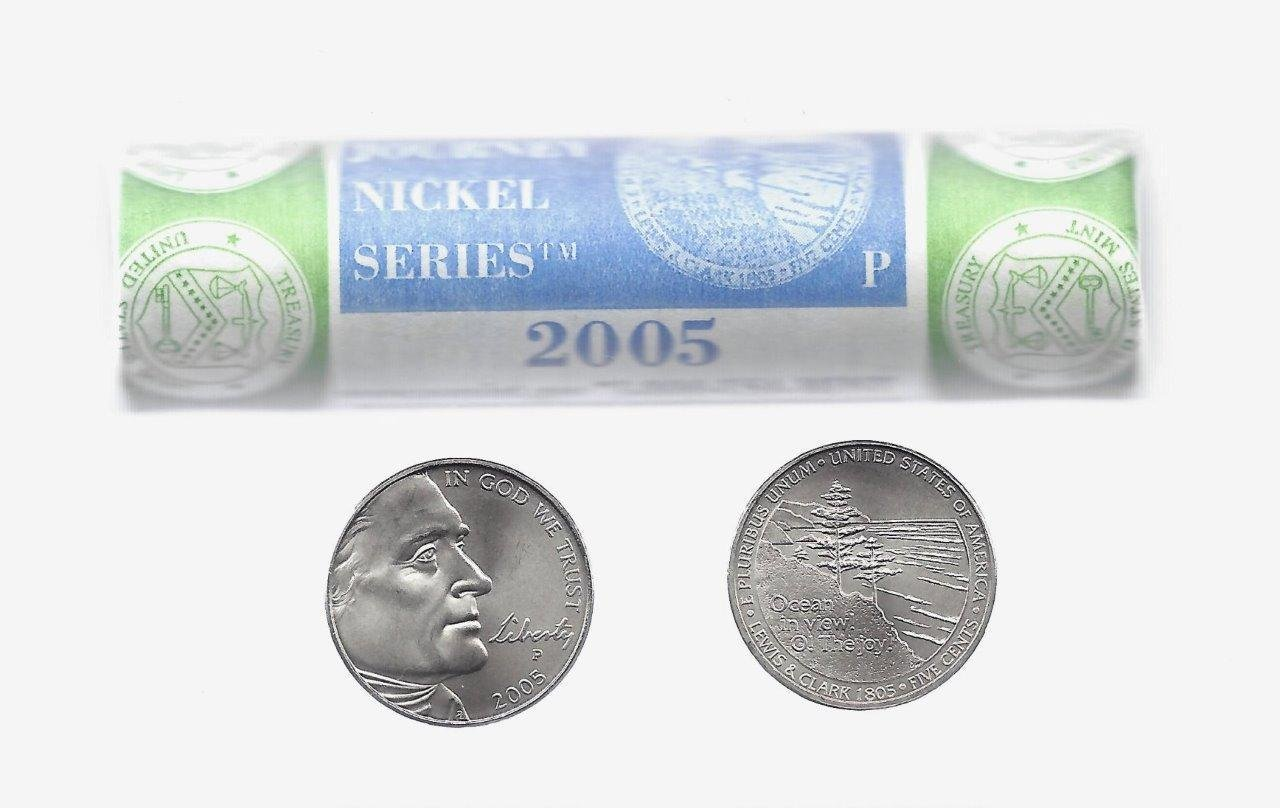 2005-P (Ocean in View ) Jefferson Nickel 40-Coin Roll (Mint Wrapped)