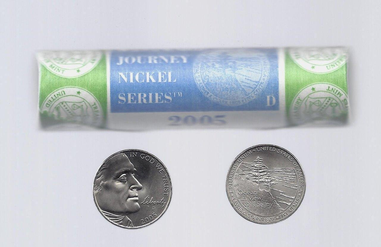 2005-D (Ocean in View ) Jefferson Nickel 40-Coin Roll (Mint Wrapped)