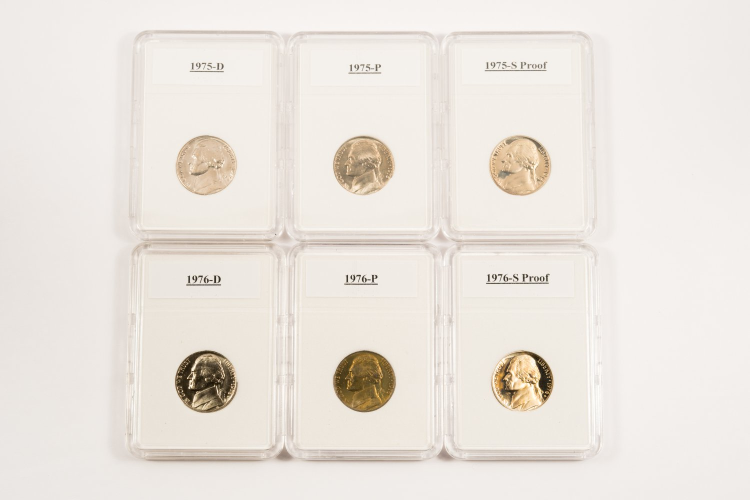 1975 Thru 1978 P, D and S Jefferson Nickels All BU and Proof