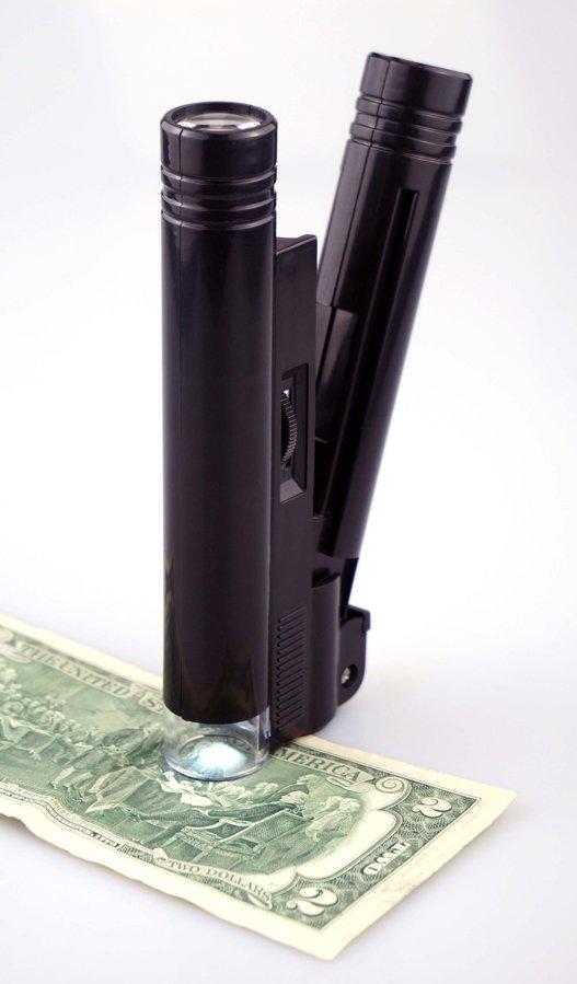 20x18mm Illuminated LED Pocket Microscope