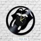 Rolling Stones vinyl wall clock