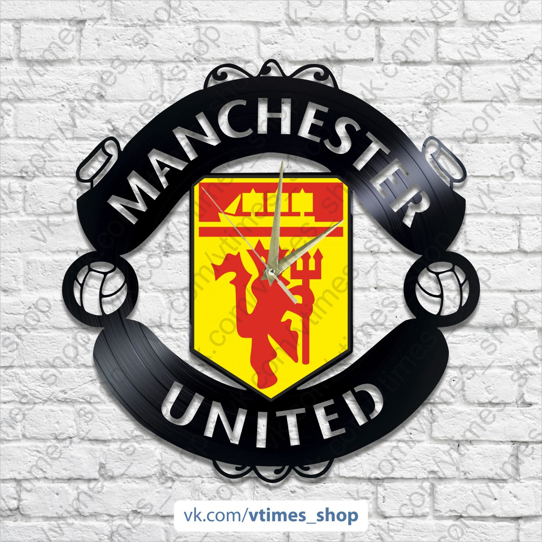 Manchester United vinyl wall clock - sport club