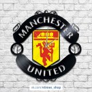 Manchester United vinyl wall clock - sport club