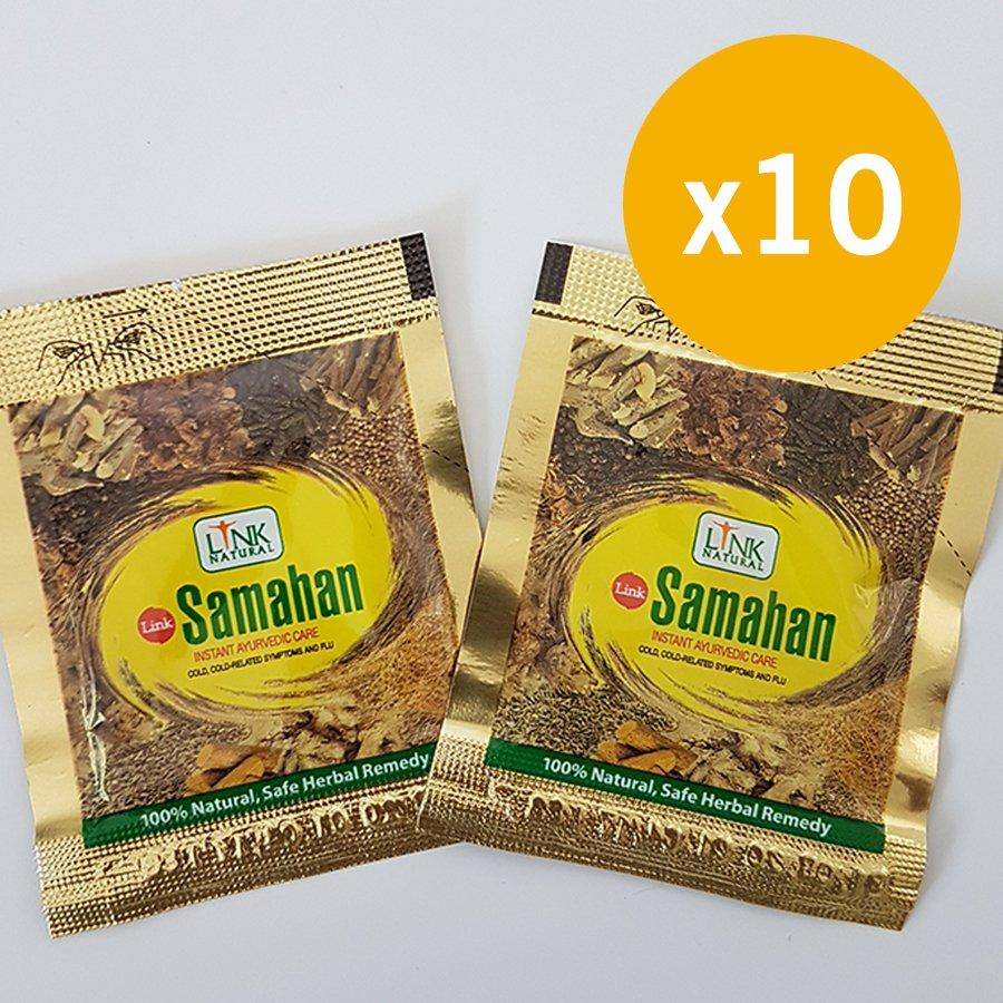10 SAMAHAN Sachets  Ayurvedic Ceylon Herbal Tea