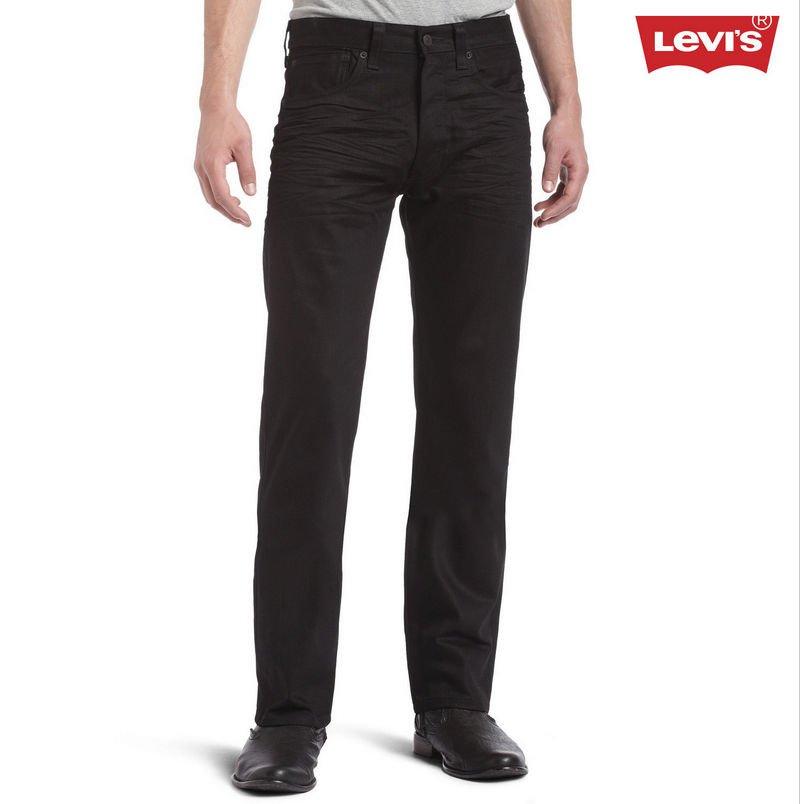 Levi's Men's 501 Sz 30x34 Original-Fit Jeans in Polished Black