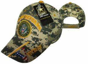 U.S. Army Digital Camo Veteran with Seal Cap