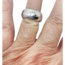 Ippolita, hammered,  sterling silver, unisex, fashion, ring / band