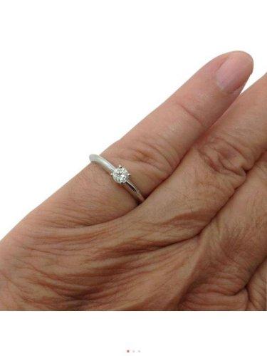 14k White Gold, 0.25ctw Genuine Diamond Engagement, Anniversary, Knife Edge Ring