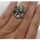 Ippolita Sterling Silver Green Quartz Statement Fashion Designer Ring