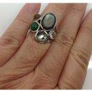 Ippolita Sterling Silver Green Quartz Statement Fashion Designer Ring