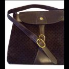 Vintage, Gucci, Brown, Leather, Suede, Purse. Good Condition