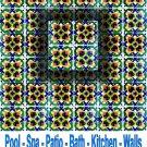 LEILA DESIGN ACCENT TILE 4in X 4in, in Antique Looking Ceramic Tiles