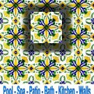 ZOUHOUR DESIGN ACCENT TILE 4in X 4in , in Antique Looking Ceramic Tiles